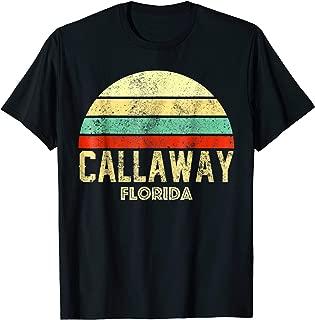 Callaway Florida FL Vintage Retro Sunset Tee T Shirt