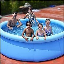 piscina hinchable jacuzzi Piscina Inflable Sobre El Suelo Para Niños, Adultos | Piscinas Familiares Redondas De Instalación Rápida | Jardín Al Aire Libre, Patio Trasero, Fiesta De Agua De Verano