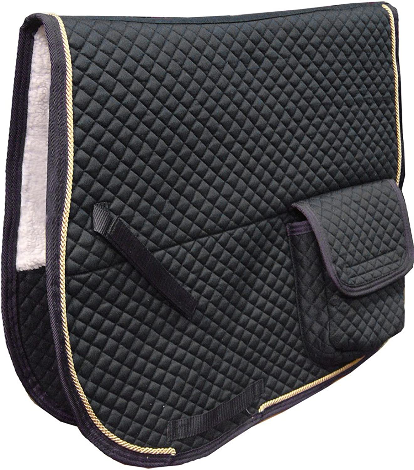 Derby Originals Australian Saddle Pad with Pockets and Half Fleece