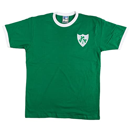 cce05b6af26 The Old School Shop Retro Republic of Ireland Eire 1970s Football T Shirt  New Sizes S