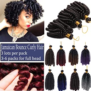 Jamaican Bounce Crochet Hair Braids Synthetic Hair Curly Jumpy Wand Spring Curl Braiding Hairpiece Ombre Twist Black to Light Brown