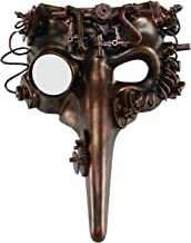 KAYSO INC The Plague Doctor Victorian Steampunk Bauta Full Face Masquerade Mask (Rustic Bronze)