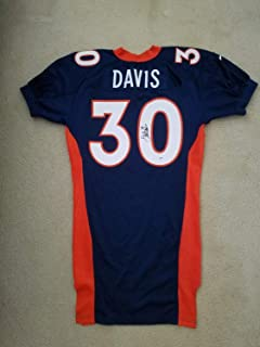 Terrell Davis Autographed Signed Autograph 97 Game Issued #30 Nike Jersey Size 48 Broncos PSA/DNA/Coa