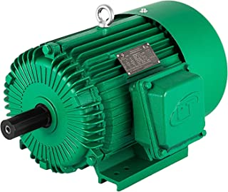 Mophorn 230V and 460V Electric Motor 184T Frame 3 Phase Electric Motor 5 HP Electric Motor 1800 RPM 9/8 Inch Keyed Shaft for The Matching of Water Pumps