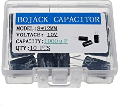 BOJACK 8X12mm 1000uF 10V 1000MFD 10Voltage ±20% Aluminum Electrolytic Capacitors(Pack of 10 Pcs)