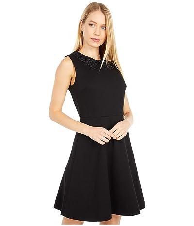 Kate Spade New York Lace Collar Ponte Dress (Black) Women