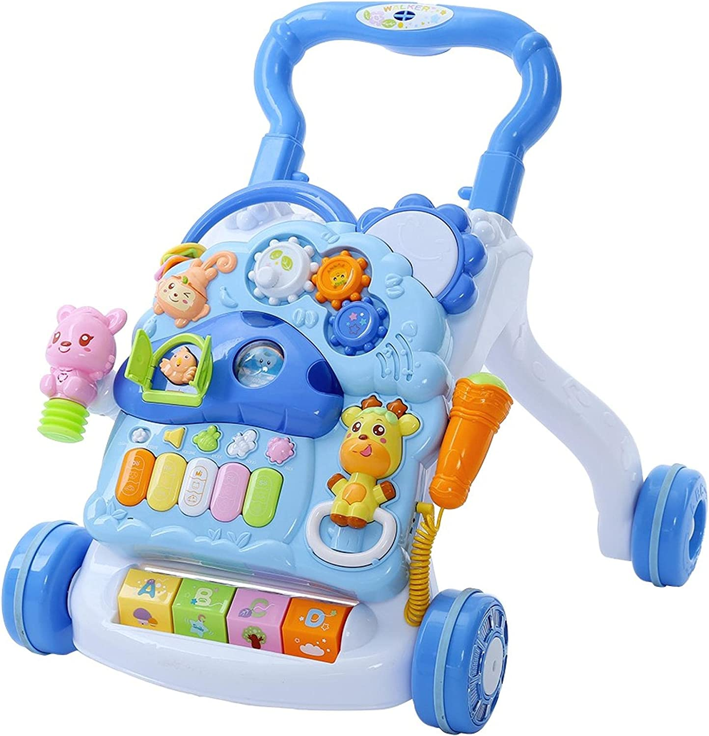 Huokan Multifunction Learning Walker Chicago Mall Sit-to-Sta Baby Arlington Mall Drum Piano