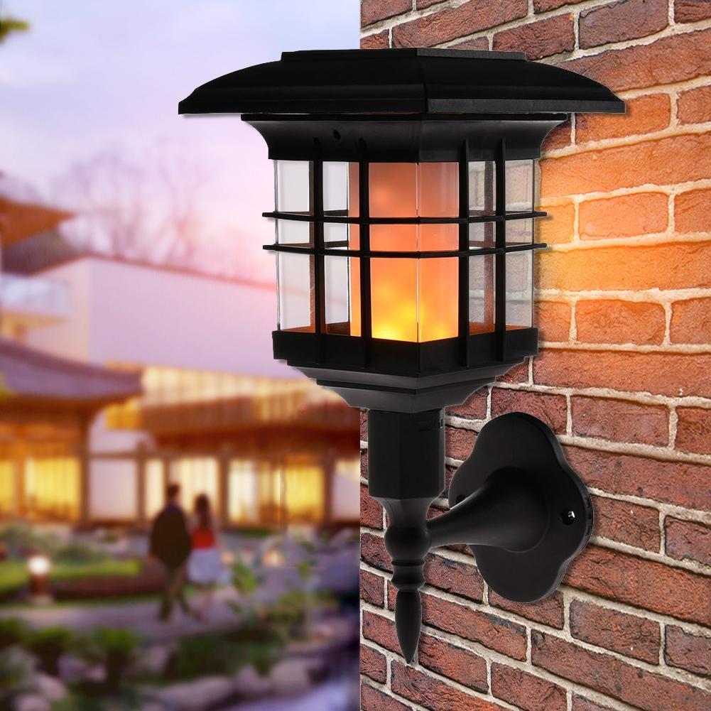 prokth Solar luces de jardín Llama Luz LED Retro impermeable exterior Llama Luz Jardín decorativo de pared Lámpara para jardín, terraza, auffahrt, vías: Amazon.es: Iluminación