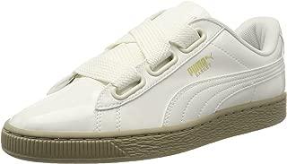 PUMA Women Basket Heart Patent Low-Top Sneakers