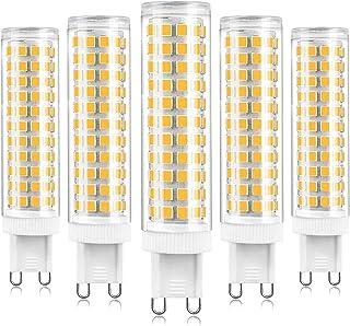 Bombilla LED G9 de 15 W, bombilla LED G9 regulable, base de dos clavijas, blanco cálido 3000 K, candelabro de cristal equivalente a 120 W 150 W, para lámpara de pared para gabinete, paquete de 5