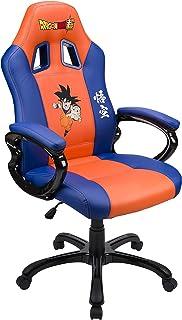 Subsonic - Asiento de juego Sillón Gamer ergonómico, Silla gaming giratoria de oficina, con Licencia oficial DBZ Dragon Ball Super San Goku, Naranja y Azul (PS4)