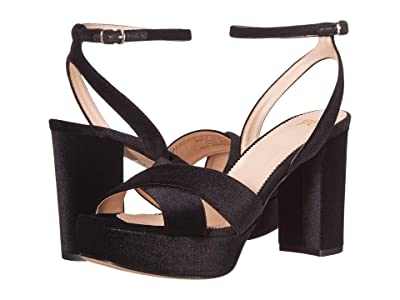 J.Crew Cross Strap Platform Sandal (Black) Women