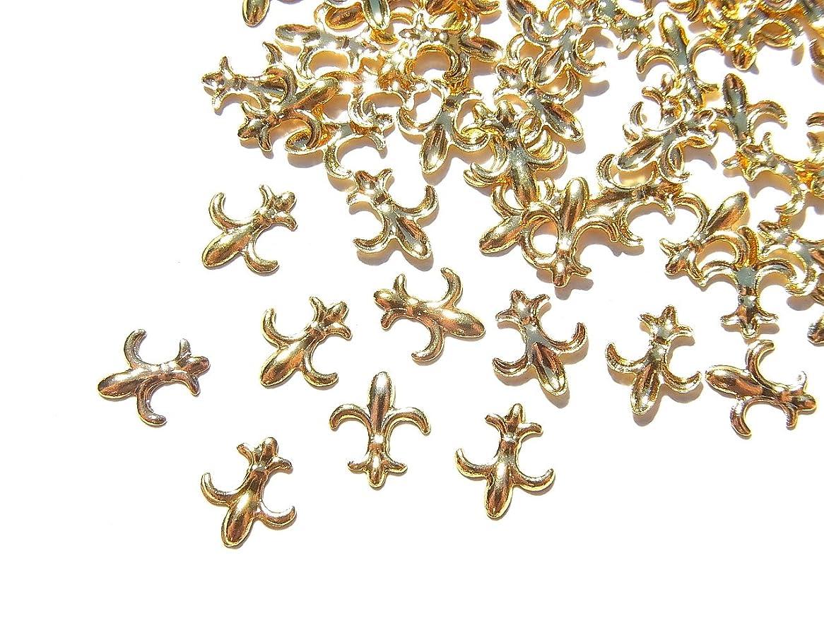 偽造洗練私たち自身【jewel】ゴールド メタルパーツ フレア 10個入り 6mm×5mm 手芸 材料 レジン ネイルアート パーツ 素材
