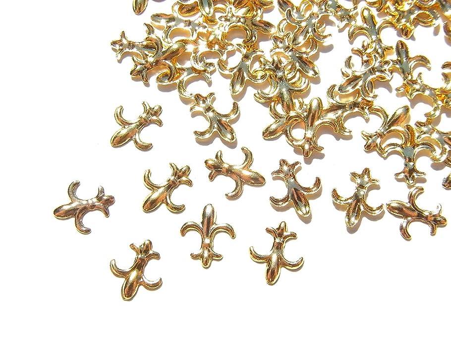 放置ジャンル上げる【jewel】ゴールド メタルパーツ フレア 10個入り 6mm×5mm 手芸 材料 レジン ネイルアート パーツ 素材
