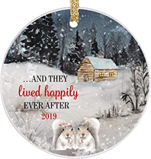 PrJoyint Happy Bunny Married Couples First Christmas Ornament Happily Ever After Wedding Ornament 2019 - …and They Lived Happily Ever After 2019