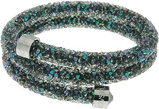 Authentic Swarovski Crystaldust Double Bangle, Purple 5292441 Diameter: 1 7/8