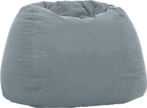 بين باج مخملي لين سهل التشكيل - كرسي راحة بين باج للكبار والأطفال - حجم صغير بلون بودرة زرقاء داكنة