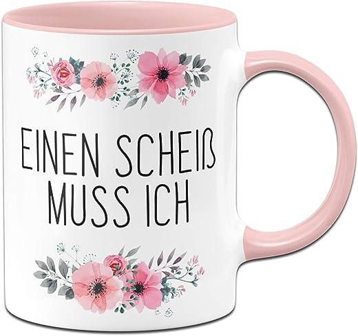 Einen Scheiß muss ich - Rosa Kaffeetasse