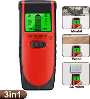 3 in 1 Stud Finder Wall Finder Wood AC Wire Metal Detector Digital Scanner with Screen Display and Buzzer MAXLAPTER