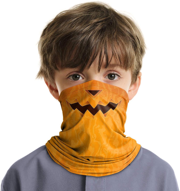 Kids Neck Gaiter Festival Bandana UV Sun Protection Scarf Balaclava for Outdoor Activities