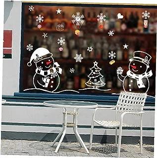 Byfri Pared de la Navidad, Arte de Vinilo removible Inicio Ventana Pegatinas de Pared de la Etiqueta Deco Etiqueta de la Pared