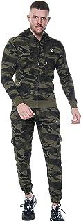 Mens Camouflage Tracksuit Premium Quality Camo Fleece Zipper Hoodie with Slim Fit Jogpants