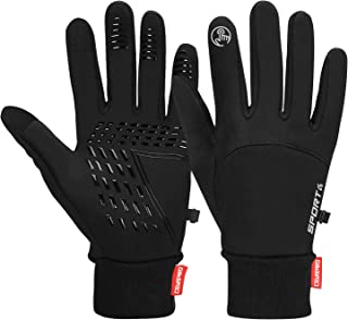 Cevapro Winter Warm Gloves, Touchscreen Gloves Cold Weather Cycling Gloves Windproof Winter Sports Gloves for Running, Bik...