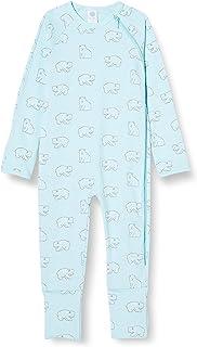 Sanetta Baby-Jungen New Angel Warmer Overall Hellblau mit einem niedlichen Eisbären-Allover