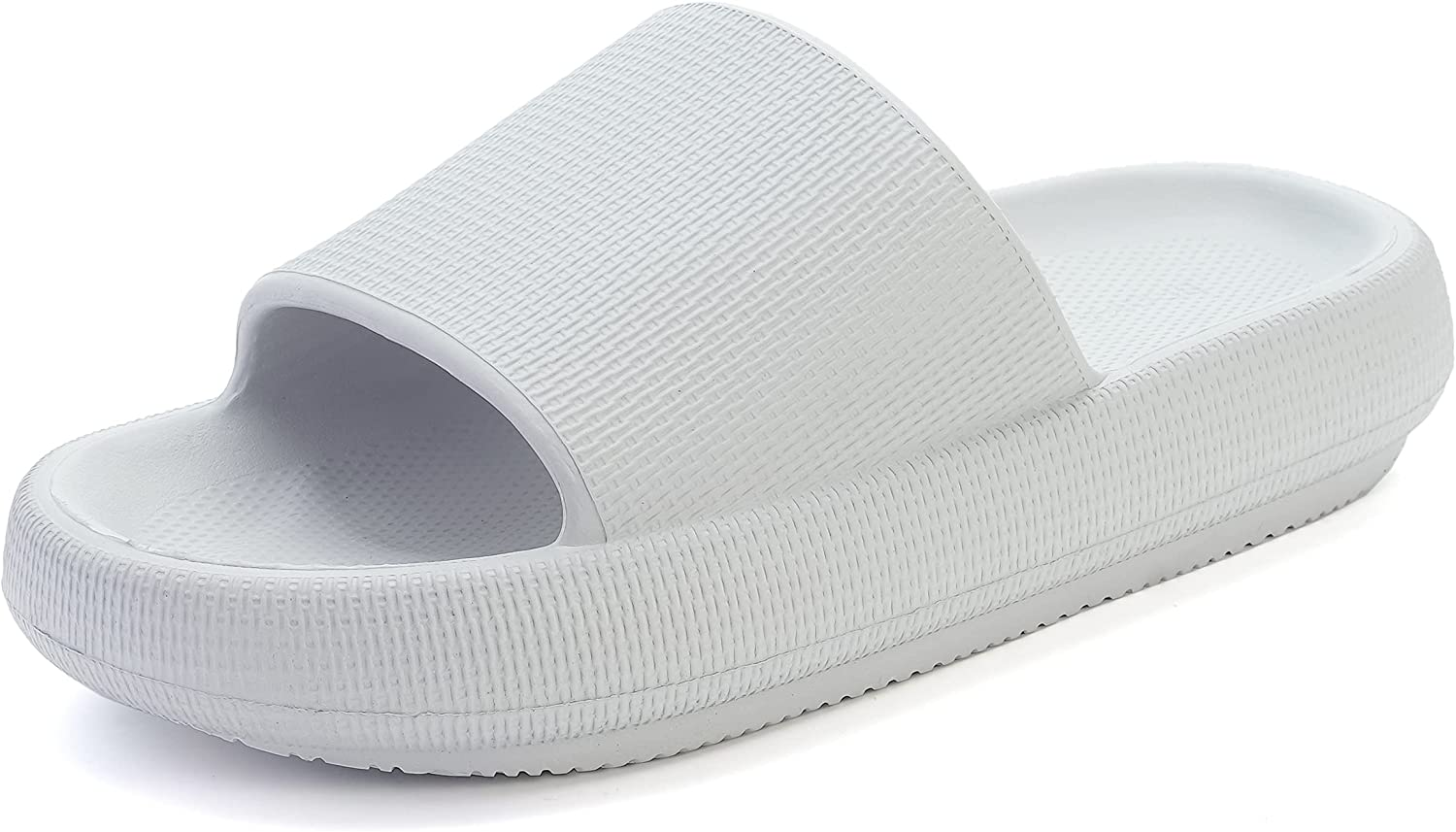 BRONAX Pillow Slippers for Women and Men | Shower Bathroom Sandals | Extremely Comfy | Non-Slip & Cushioned Thick Sole
