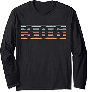 306 Area Code Retro Saskatchewan Canada Long Sleeve T-Shirt