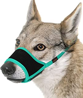 FAYOGOO Dog Muzzles, Soft Dog Muzzle for Small Medium Large Dogs, Air Mesh Breathable Drinkable and Adjustable Loop, Dog M...