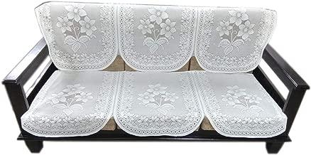 Topaz Furnishings Polycotton Unique Designer Sofa Covers for Three Seat, Set of 2, Cream Colour