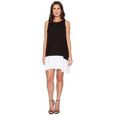 Lilla P Color Block Dress (Black/White 1) Women