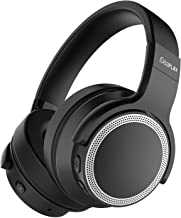 iDeaPlay V206 Active Noise Cancelling Headphones, Wireless Bluetooth, 25 Hours Playtime, Microphone aptX Stereo Sound, CVC 6.0 Noise-Cancelling Mic for Travel TV Computer Phone (Black+Silver)