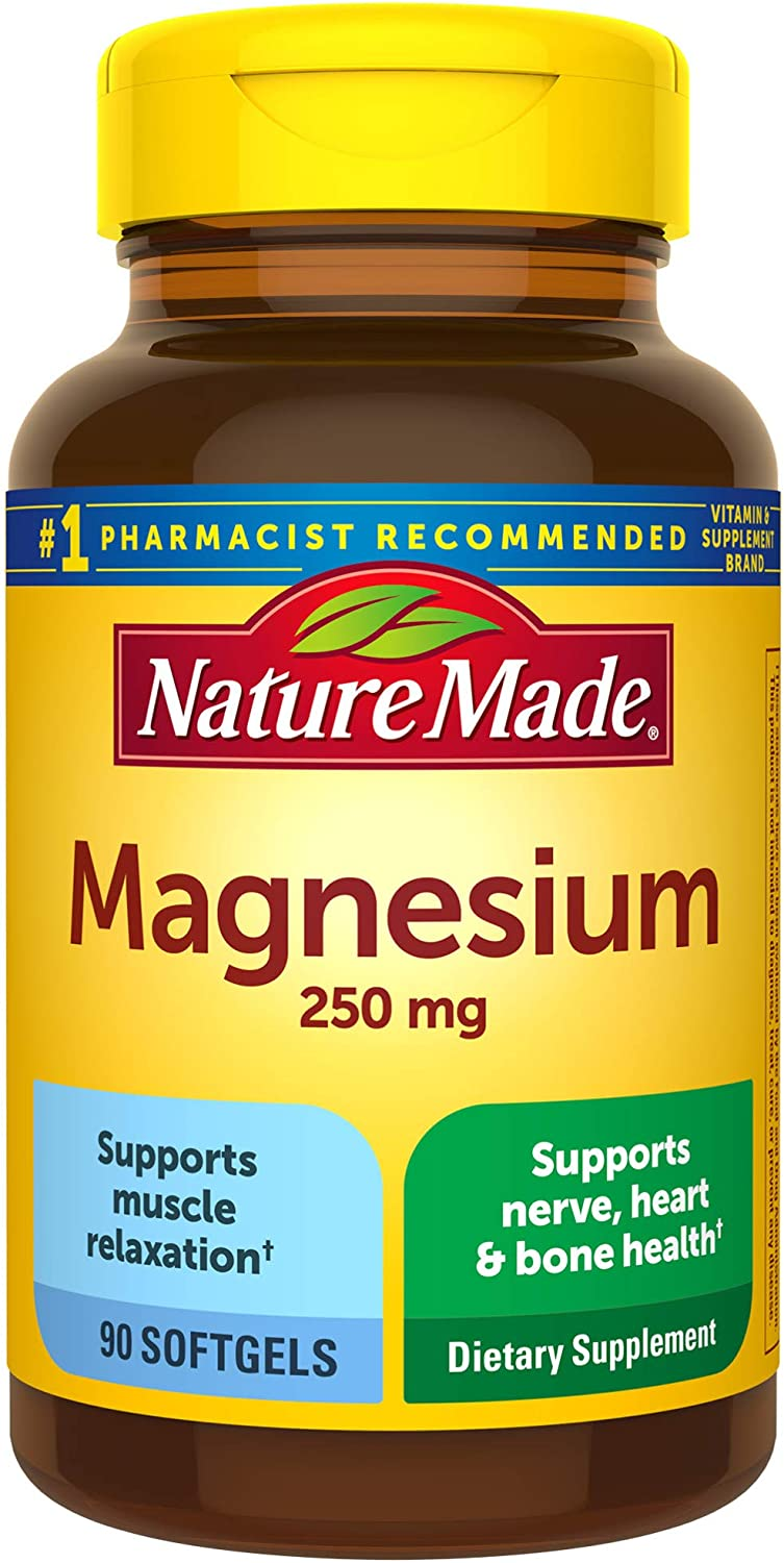 Super sale Nature Made Magnesium 250 mg Sale for Nutritional Count Softgels 90