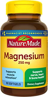 Nature Made Magnesium Oxide 250 mg Softgels, 90 Count for Nutritional Support� (Packaging May Vary)