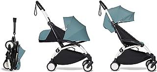 Babyzen YOYO2 Stroller & Newborn Set - White Frame with Aqua Fabrics