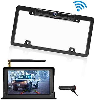 2-in-1 LCD Car SUV Reverse Parking Radar Sensor Car Rear View Backup Camera HM
