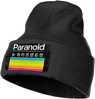 Leasan Mens & Womens Polaroid Logo Skull Beanie Hats Winter Knitted Caps Soft Warm Ski Hat Black
