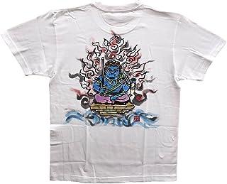 不動明王 オリジナル Tシャツ 彩色 半袖 和柄 仏画 日本画 手描き 墨絵 伯舟庵