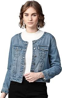 FEMELLA Women's Ombre Wash Denim Jacket