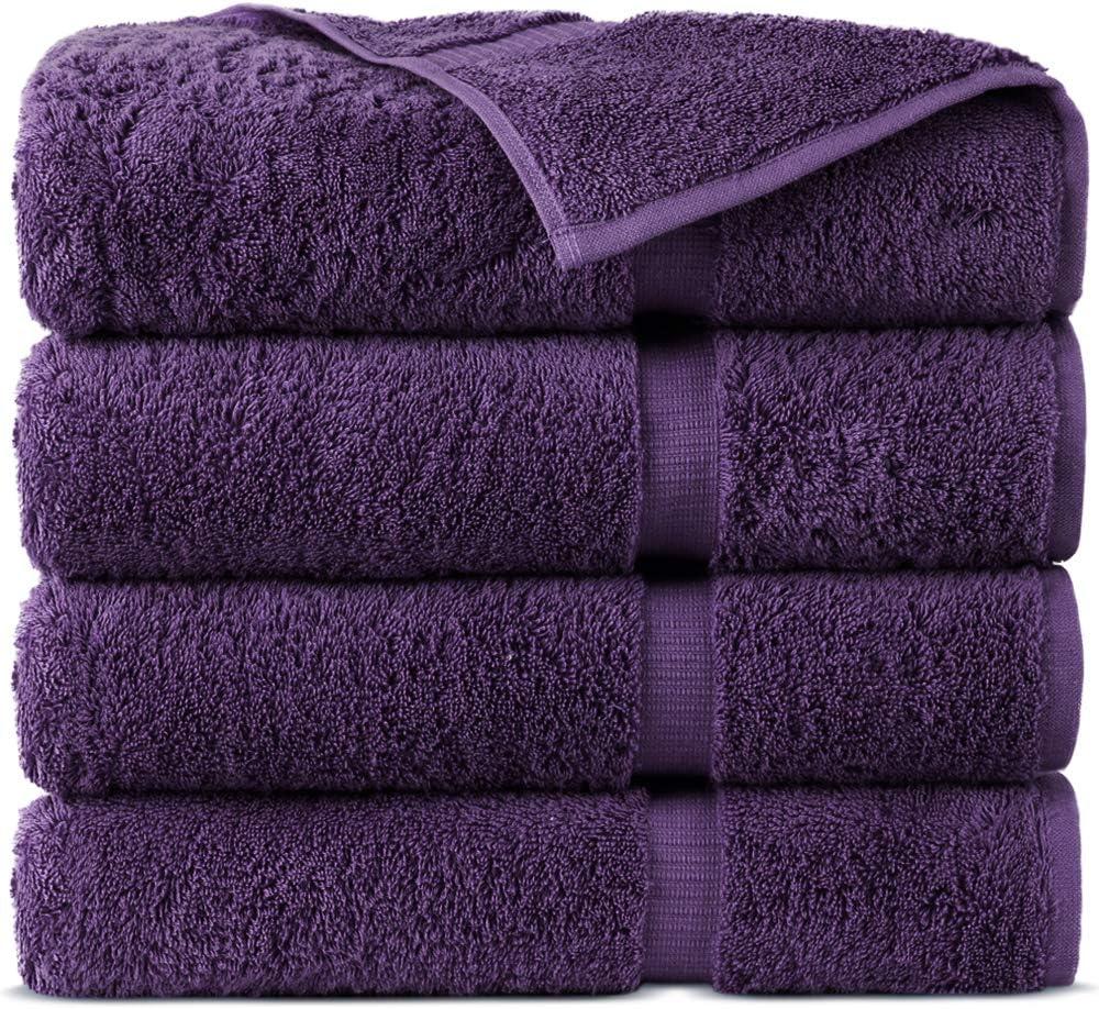 Indulge Linen 100% 5 popular Turkish Cotton Towel Department store - Bath Set Plum Towels