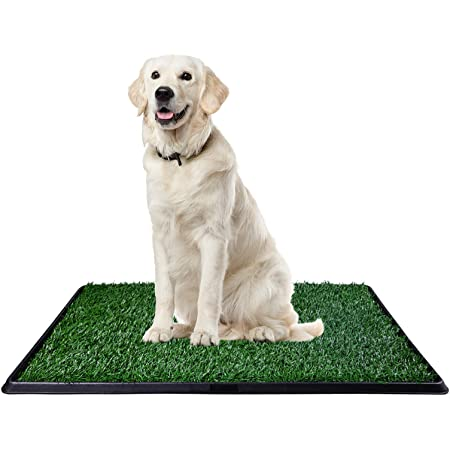 L-2PACK Artificial Grass Dog Grass Mat and Grass Doormat Indoor Outdoor Rug Drainage Holes Fake Grass Turf for Dogs Potty Training Area Patio Lawn Decoration