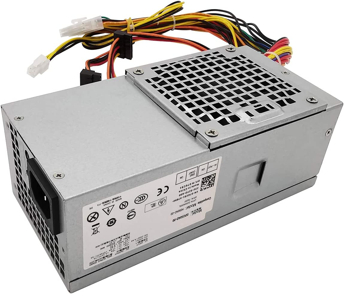 D250AD-00 H250AD-00 250W Power Supply Compatible with Optiplex 390 790 990 3010 Inspiron 537s 540s 545s 546s 560s 570s 580s 620s Vostro 200s 220s 230s 260s 400s Studio 540s 537s 560s Slim DT Systems