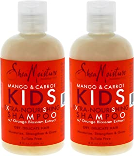SHEA MOISTURE Mango & Carrot Kids Extra-nourishing Shampoo Pack Of 2, 8 Oz (K0000178)