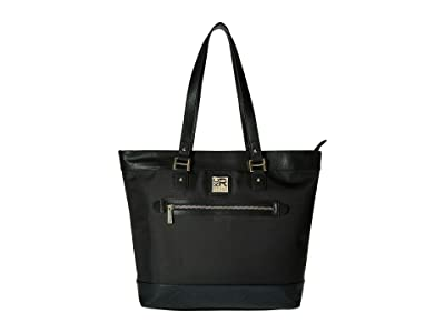 Kenneth Cole Reaction Call It A Night Nylon Tote (Black) Tote Handbags