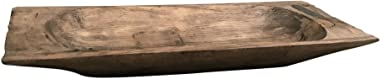 MY SWANKY HOME Antique Style Solid Reclaimed Wood Dough Tray | Decorative Bowl Vintage Carved