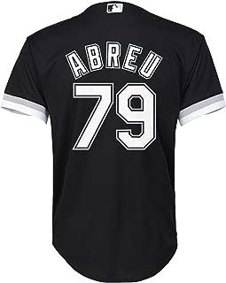 Outerstuff Jose Abreu Chicago White Sox Black Youth Cool Base Alternate Replica Jersey