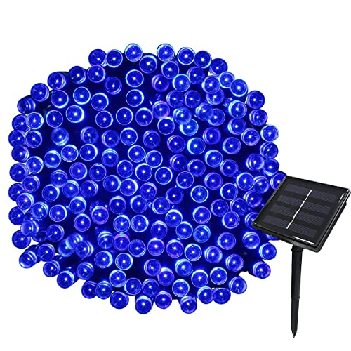 Yasolote Solar Garden Lights, Waterproof Fairy Lights, 72ft 20m 200 LED 8 Twinkling Modes, Decorative Outdoor Lighting String Lights for Gazebo, Patio, Yard, Fence, Wedding Ornament (Blue, 1 Pack)