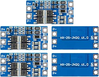 Aideepen 5PCS PCB Protection Boards 2S 10A 8.4V 7.4V 18650 Lithium BMS PCM PCB Li-ion Lipo 2 Cell Pack with Balance Function Charger Protection Circuit Board